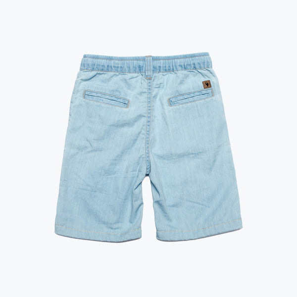 Boy's Pull-On Chambray Shorts