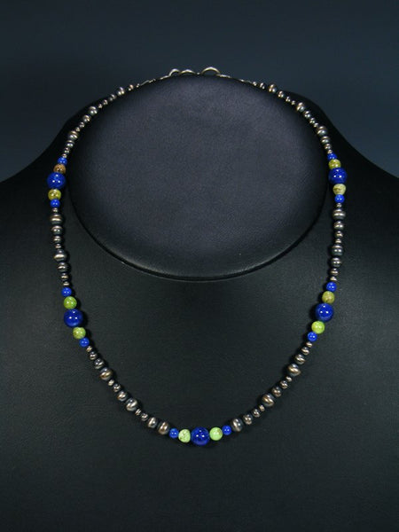Native American Gaspeite and Lapis Choker Necklace