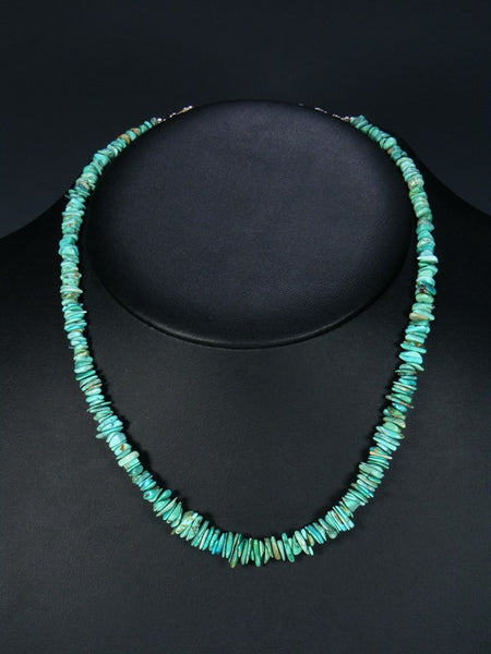 Native American Indian Jewelry Single Strand Turquoise Necklace