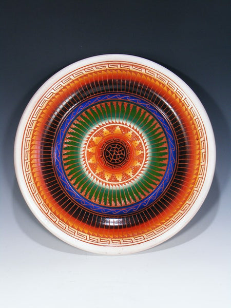 Navajo Etched Pottery Display Plate
