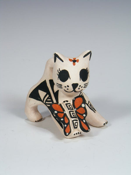 Acoma Pueblo Hand Made Pottery Storyteller Cat
