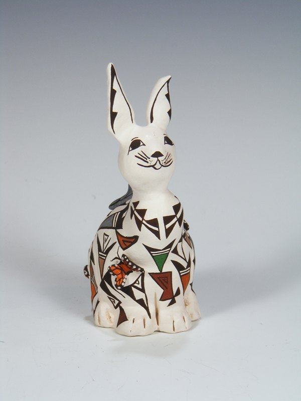 Acoma Pueblo Hand Made Pottery Rabbit Storyteller