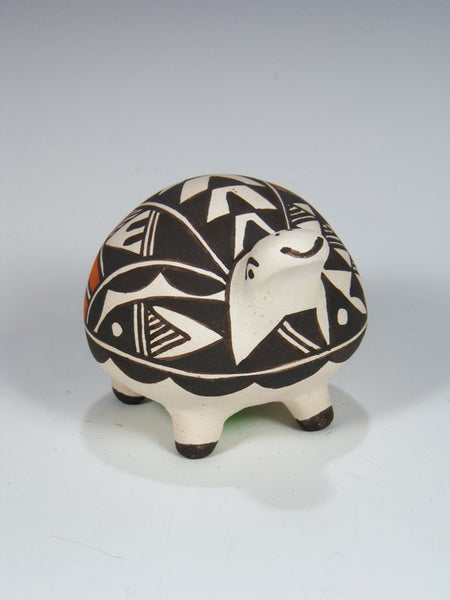 Acoma Pueblo Hand Coiled Pottery Turtle