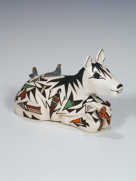 Acoma Pueblo Hand Made Pottery Horse Storyteller