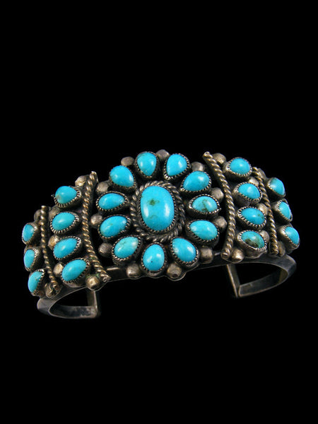 Old Pawn Turquoise Cluster Child's Bracelet