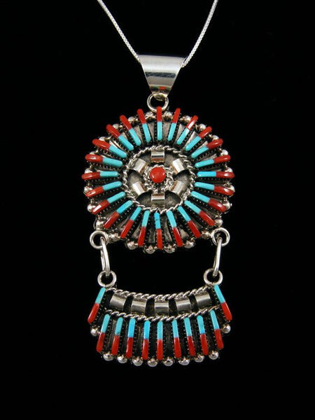 Sterling Silver Zuni Pendant by Carla Laconsello - PuebloDirect.com
