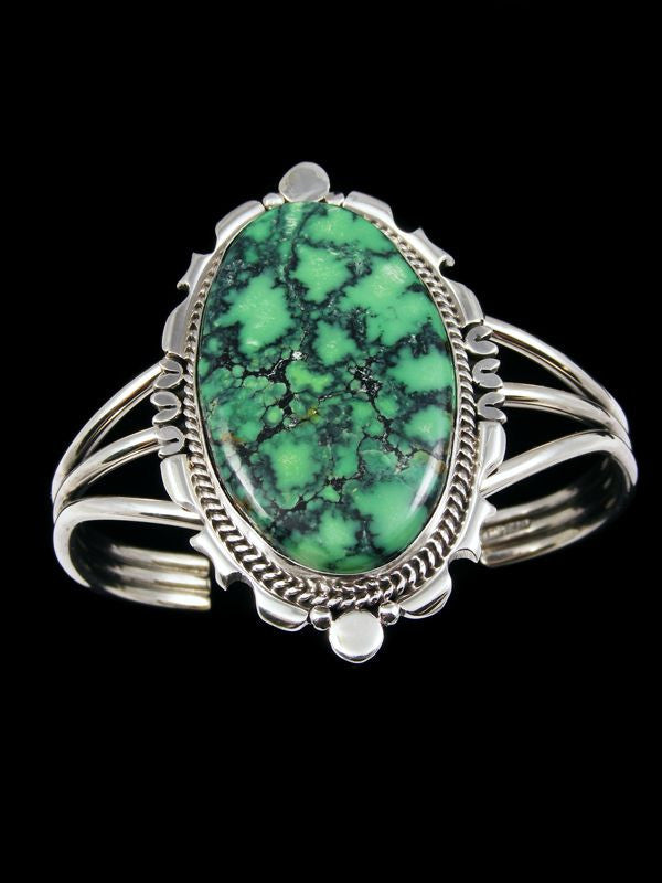 Native American Variscite Bracelet by Navajo Artist - PuebloDirect.com