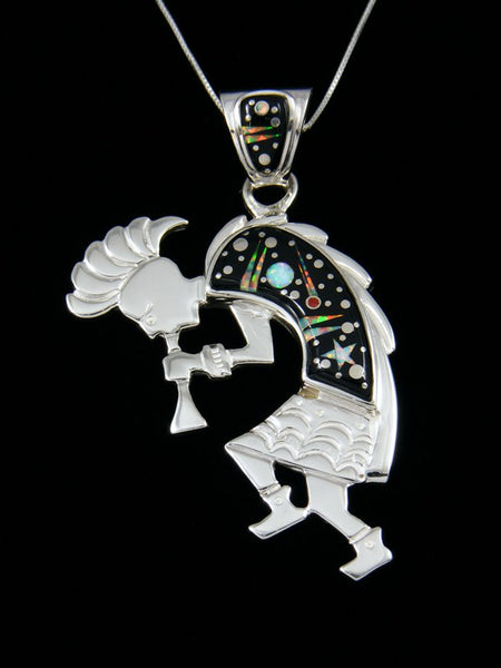 Native American Inlay Night Sky Kokopelli Pendant
