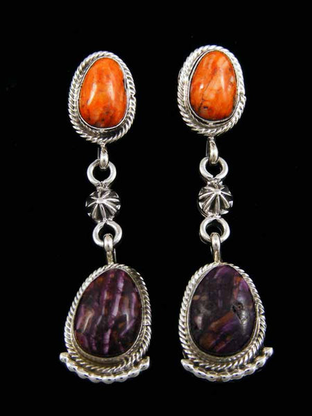 Spiny Oyster Earrings by Ross Antonio - PuebloDirect.com