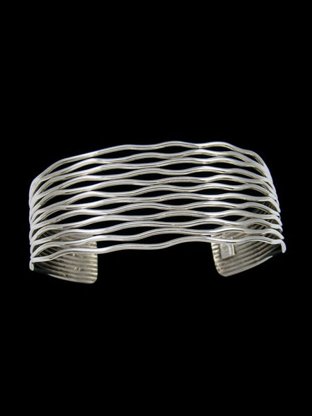 Native American Sterling Silver Wire Cuff Bracelet