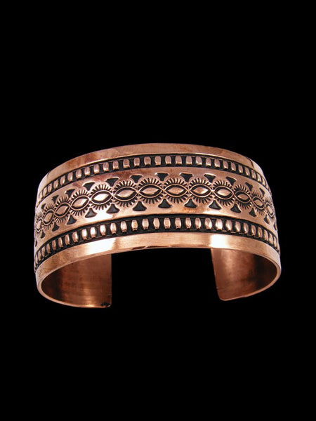 Native American Stamped Copper Cuff Bracelet