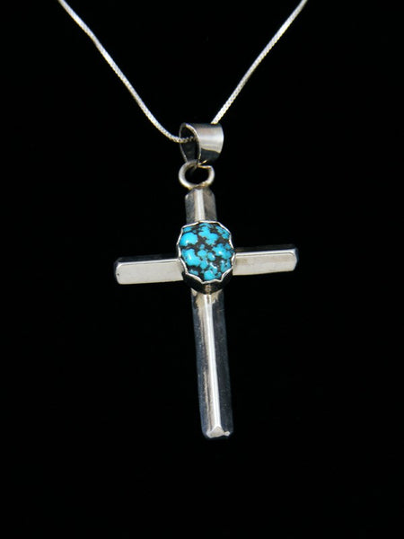 Native American Indian Jewelry Turquoise Cross Pendant