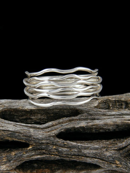 Navajo Sterling Silver Sculpted Wire Ring