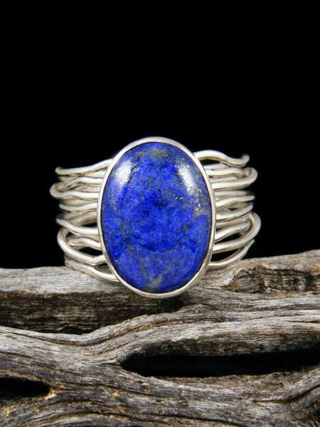 Lapis Sterling Silver Ring, Size 9