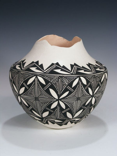 Acoma Pueblo Hand Coiled Pottery by June Pino - PuebloDirect.com - 1