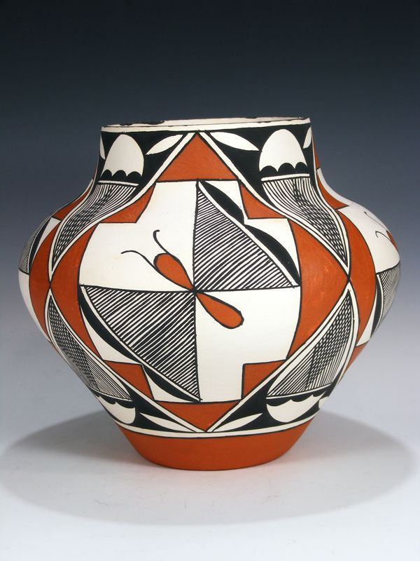 Acoma Pueblo Hand Coiled Pottery by Wendell Kowemy - PuebloDirect.com - 1