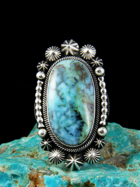 Natural Dry Creek Turquoise Ring, Size 10