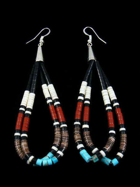 Heishi Beaded Santo Domingo Earrings
