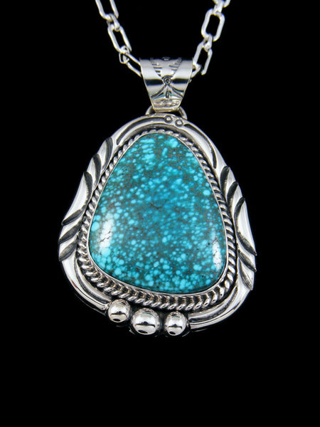 Native American Indian Candelaria Turquoise Pendant