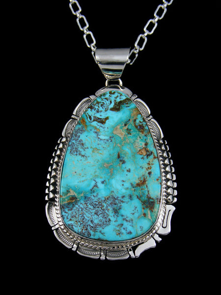 Native American Large Turquoise Mountain Pendant