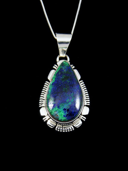 Native American Azurite and Malachite Pendant