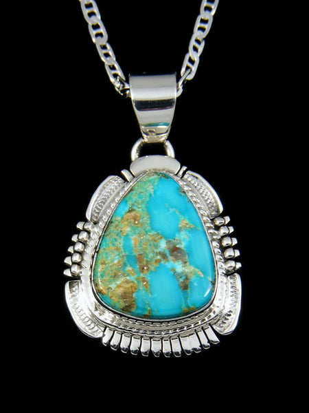 Native American Turquoise Mountain Pendant