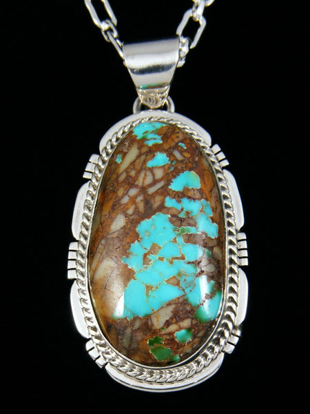 Native American Boulder Turquoise Pendant