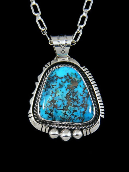Native American Candelaria Turquoise Pendant
