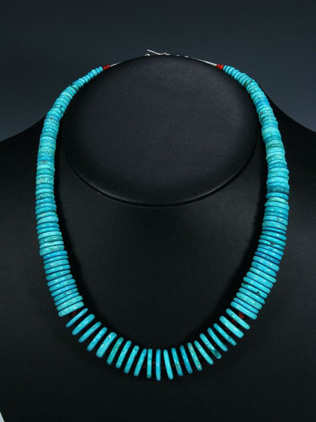 Native American Indian Turquoise Necklace by Santo Domingo Artist - PuebloDirect.com - 1