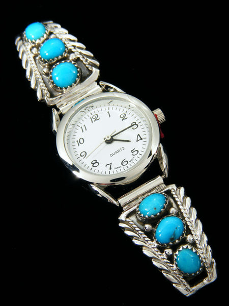 Native American Indian Turquoise Ladies' Watch by Etta Larry - PuebloDirect.com
