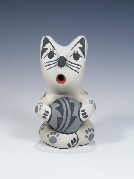 Jemez Pueblo Pottery Storyteller Basketball Cat
