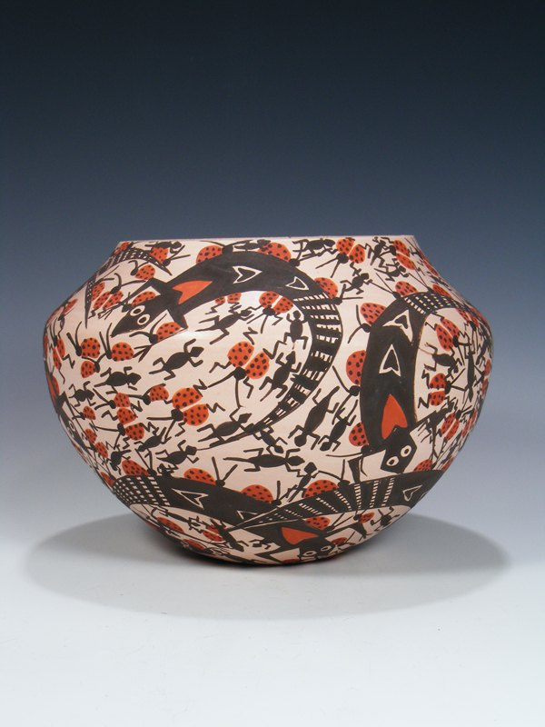 Acoma Pueblo Pottery Hand Painted Bowl