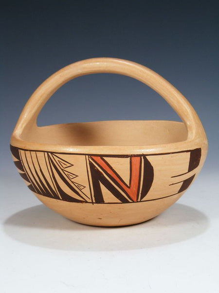 Hopi Hand Coiled Pottery Basket by Chereen Nampeyo - PuebloDirect.com - 1