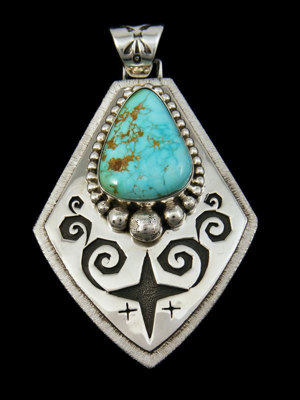Native American Royston Turquoise Pendant by Kerah Tsosie - PuebloDirect.com