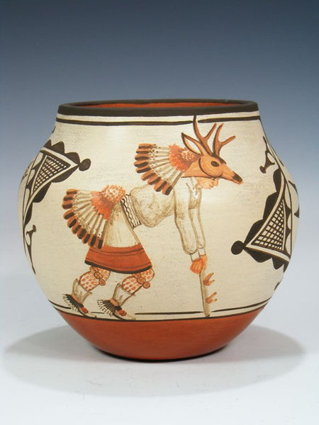 Santo Domingo Pueblo Pottery Vase by Marcellus and Elizabeth Medina - PuebloDirect.com - 1