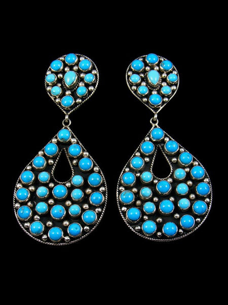 Large Sleeping Beauty Turquoise Post Earrings