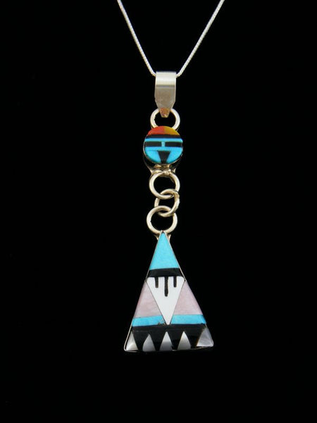 Sterling Silver Native American Sunface Zuni Pendant by Dewa - PuebloDirect.com