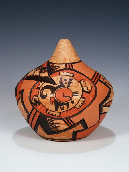 Hopi Hand Coiled Carved Pottery