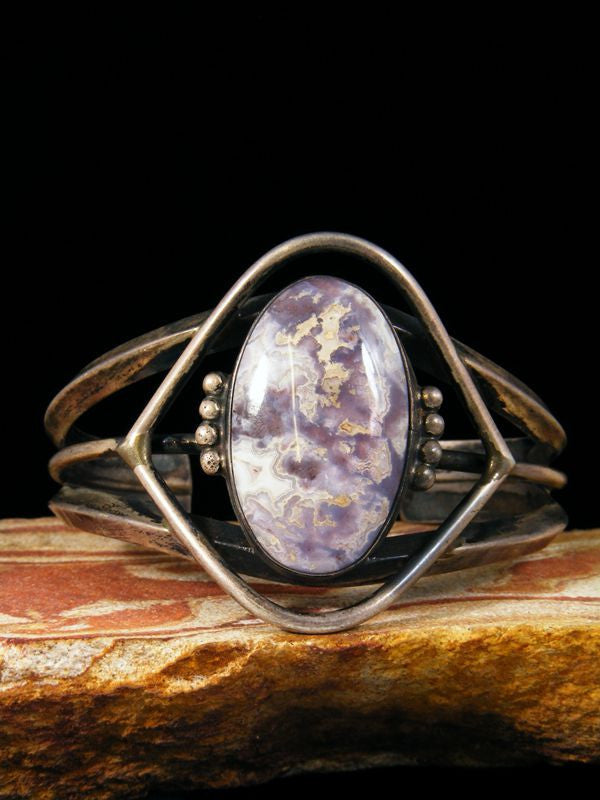 Native American Vintage Chalcedony Bracelet by Vintage Jewelry - PuebloDirect.com - 1