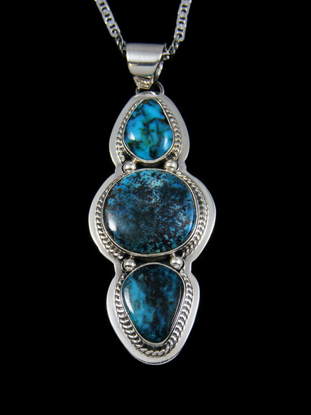 Native American Indian Jewelry Apache Blue Turquoise Pendant