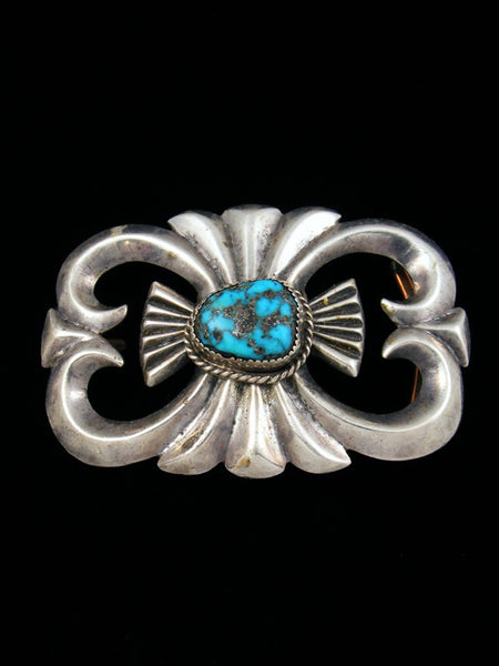 Old Pawn Native American Turquoise Belt Buckle