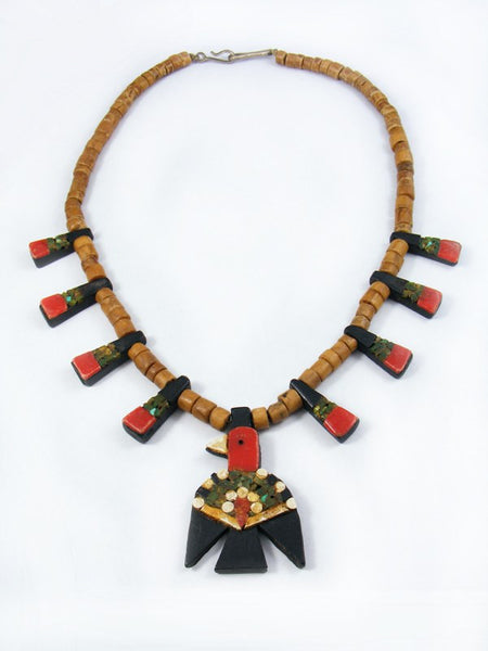 Old Pawn Santo Domingo Pueblo Depression Era Necklace