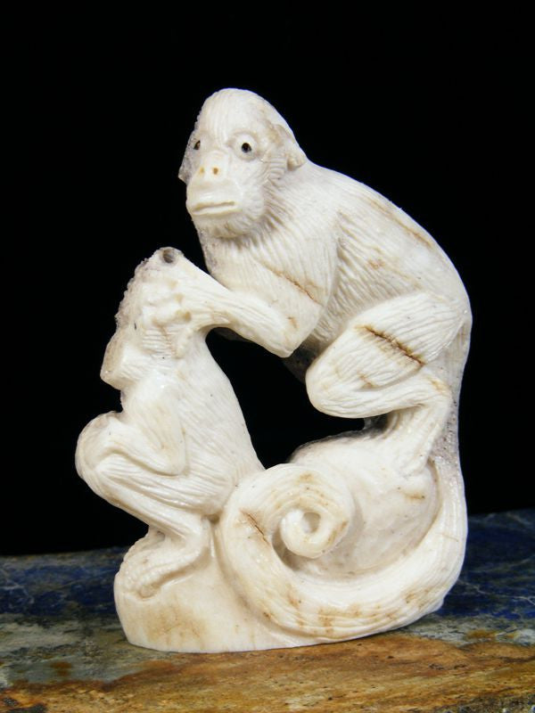 Antler Monkey Zuni Fetish by Esteban Najera - PuebloDirect.com - 1