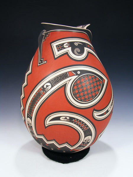 Mata Ortiz Large Hand Coiled Pottery