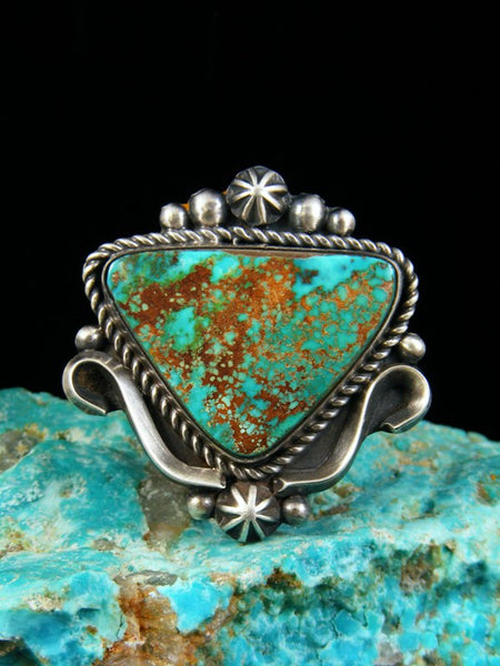 Pilot Mountain Turquoise Ring, Size 8.5