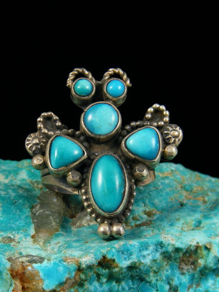 Turquoise Butterfly Ring, Size 8.5