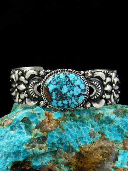 Native American Turquoise Mountain Cuff Bracelet