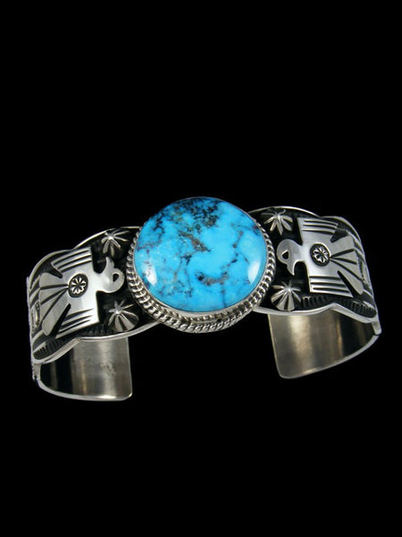 Native American Indian Jewelry Ithaca Peak Turquoise Thunderbird Bracelet