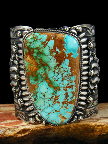 Native American Sterling Silver Royston Turquoise Bracelet