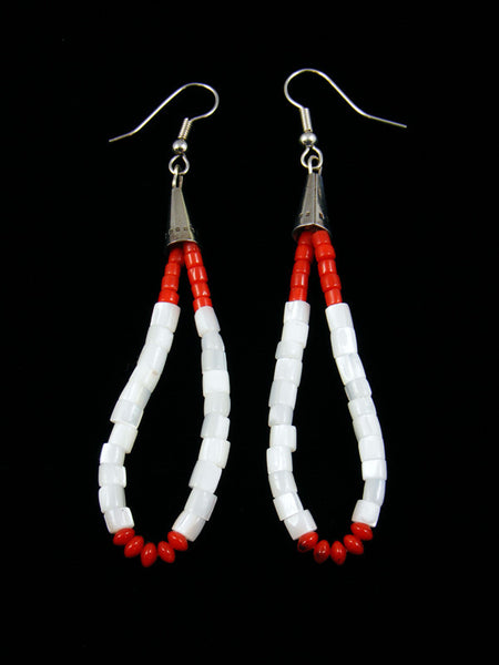 Shell and Coral Jocla Dangle Earrings